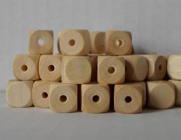Würfelperlen 10 x 10 mm, Fädelwürfel