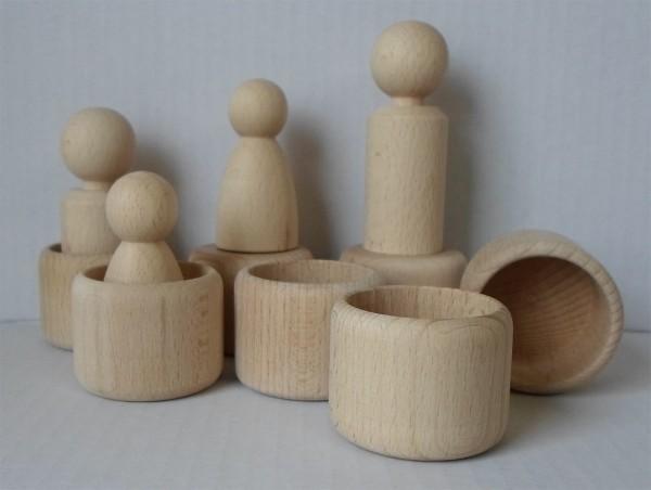 Holzbecher aus Buche, roh