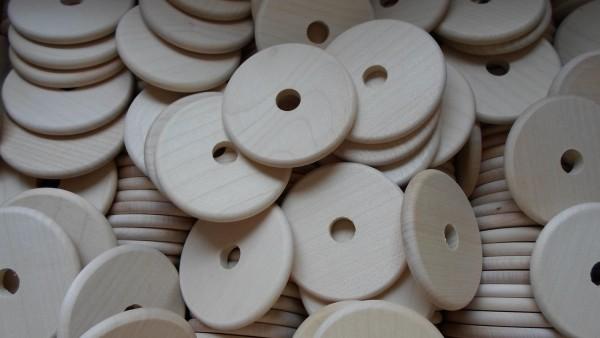 10 Stück Holzscheiben 60 mm Ø, Ahorn