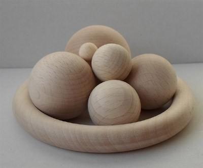 Holzkugeln 35 mm Ø ohne Bohrung