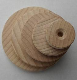 Holzrad glatt 50 mm Ø Holzscheiben Buche