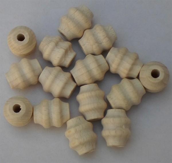 Formperle mit Rille 15 mm Ø