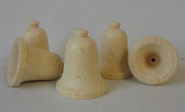 Holz-Glocken aus Buche, ca. 50 mm hoch