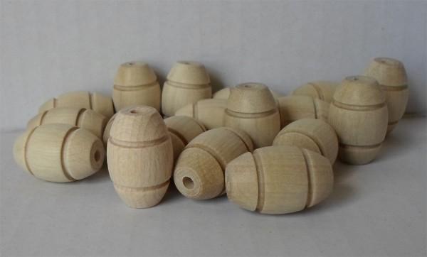 Holz-Oliven mit 2 Rillen, Football, Hainbuche