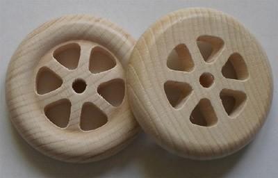 Holz-Speichenrad 70 mm Ø