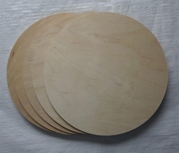 Sperrholzscheibe 250 mm Ø, 3 mm, Erlesperrholz