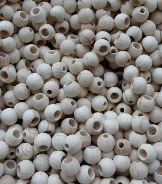 Holzkugeln mit Sicherheitsbohrung, 12 mm Ø