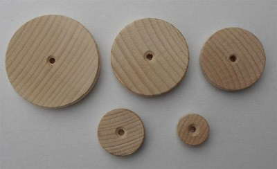 Holzräder glatt - Buche - 20 mm Ø