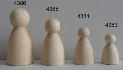 Figurenkegel Bauchig 30 mm hoch