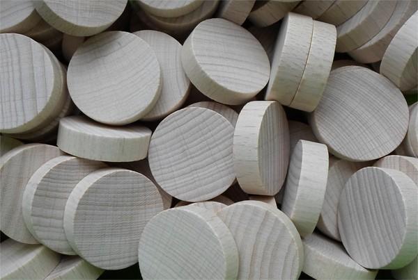Holzscheiben glatt, Buche, 30 mm Ø