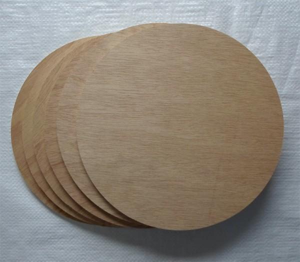 Sperrholzscheibe 250 mm Ø, 8 mm, Ceiba