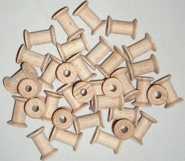 Zwirnspulen - Garnrollen 21 mm (Miniatur)