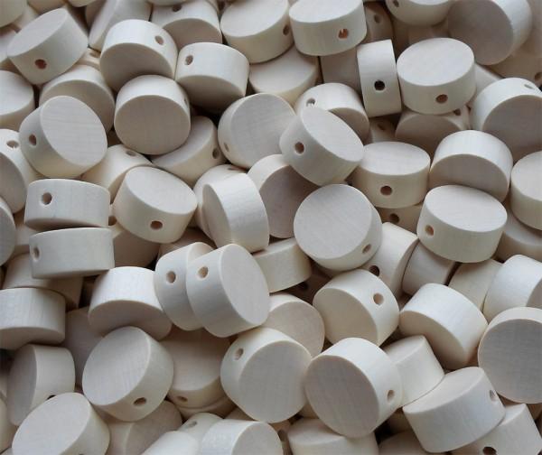 30 Stück Fädelperlen - Scheibenform mit Querbohrung